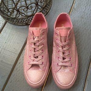 Converse CTAS Pink Glitter unisex men 8 women 10